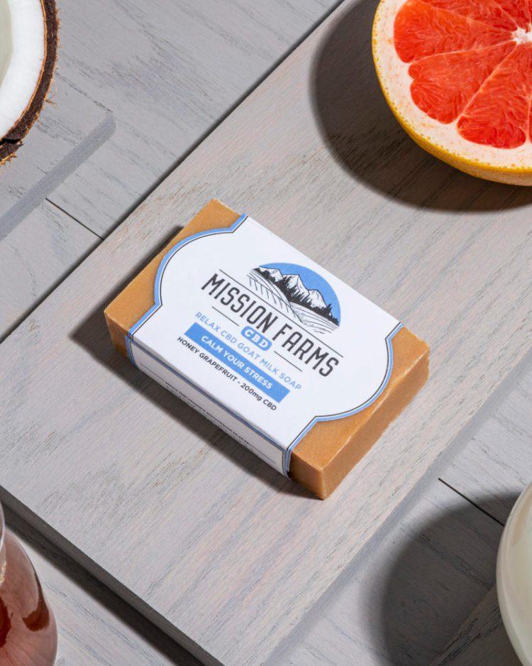 Relax CBD Goat Milk Soap l Mission Farms CD