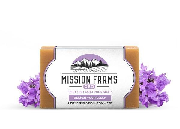 Rest CBD Goat Milk Soap l Mission Farms CBD