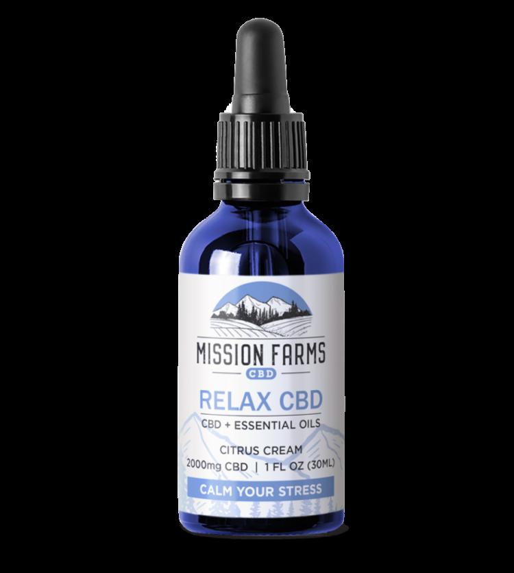 Relax CBD Oil, 2000mg l Mission Farms CBD