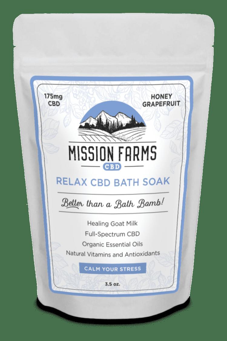 Relax CBD Bath Soak l Mission Farms CBD
