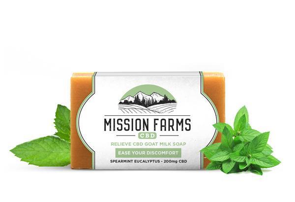 Relieve CBD Goat Milk Soap l Mission Farms CBD