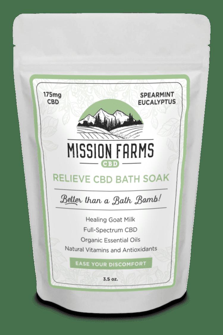 Relieve CBD Bath Soak l Mission Farms CBD